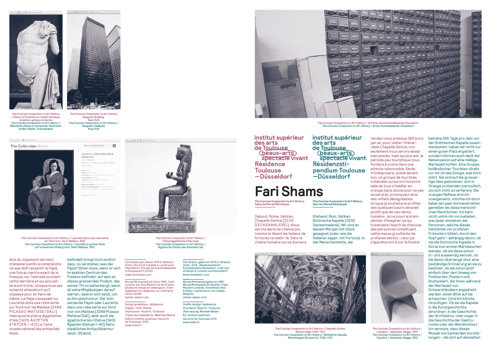 FARI SHAMS The Concise Companion to Art History arranged by Ingo Müller and Gerd Schneider